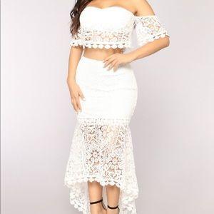 """Fashion Nova - """"smitten crochet set"""" white"""
